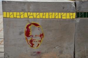 Mandela stencil Soweto