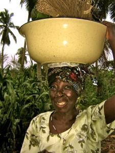 african lady, Akoumapé, Togo