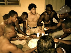 eating Fufu in Togo