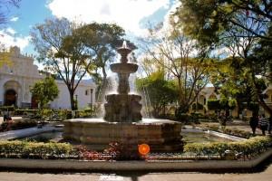 fountain, Antigua, Guatemala