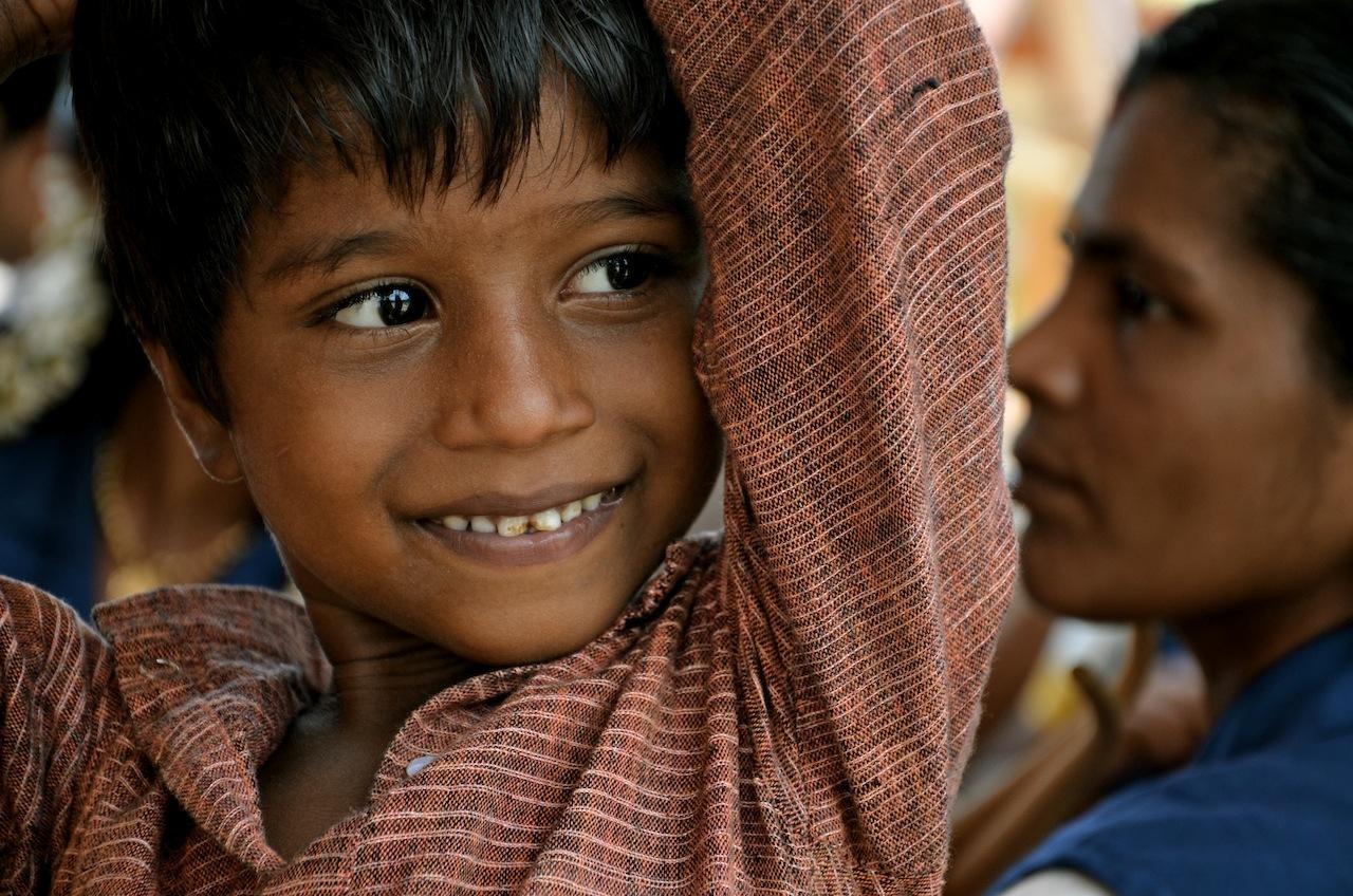 smiling kid, india