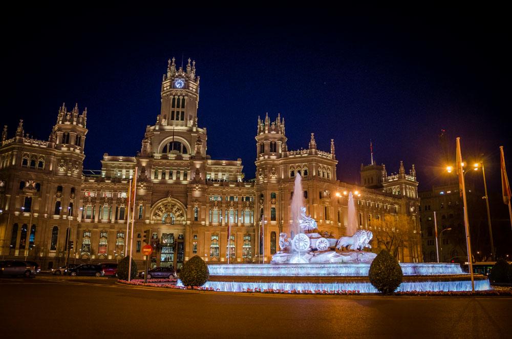 Springbrunnen, Gran Via, Madrid