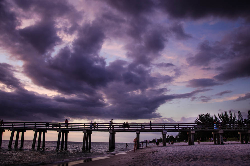 pier, naples beach, florida
