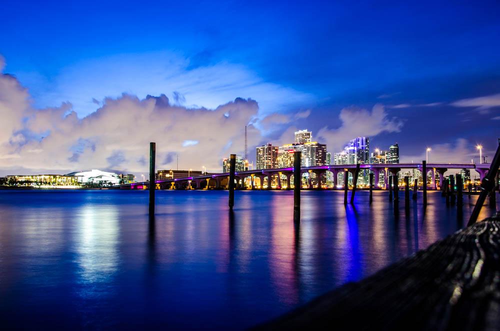 Watson Island Park, Miami skyline