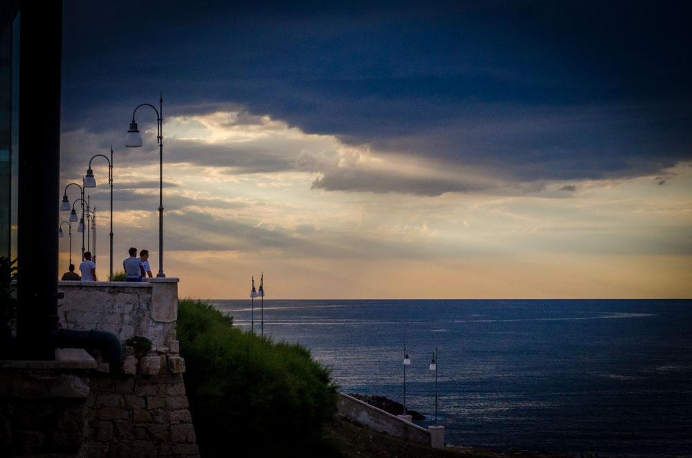 Polignano a mare. Puglia. Sonnenuntergang