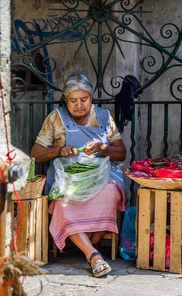 Marktfrau Mexiko