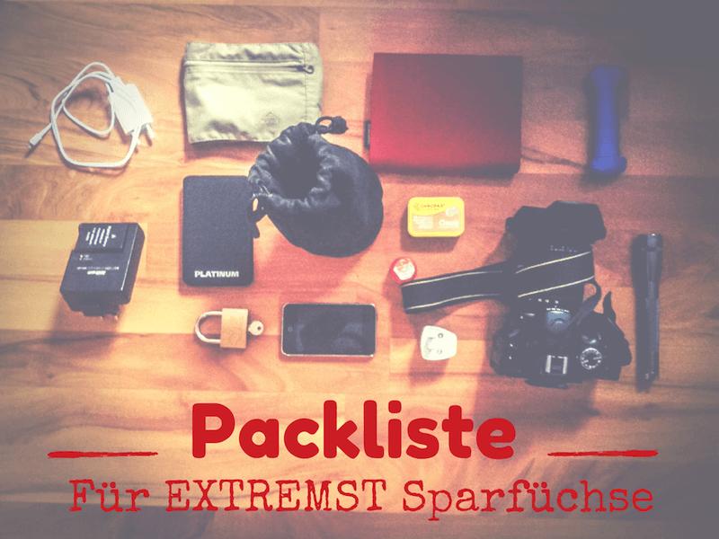 Packliste Backpacker
